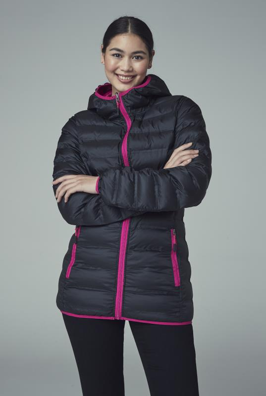 Tall Jackets Black and Pink Point Zero Reversible Packable Jacket