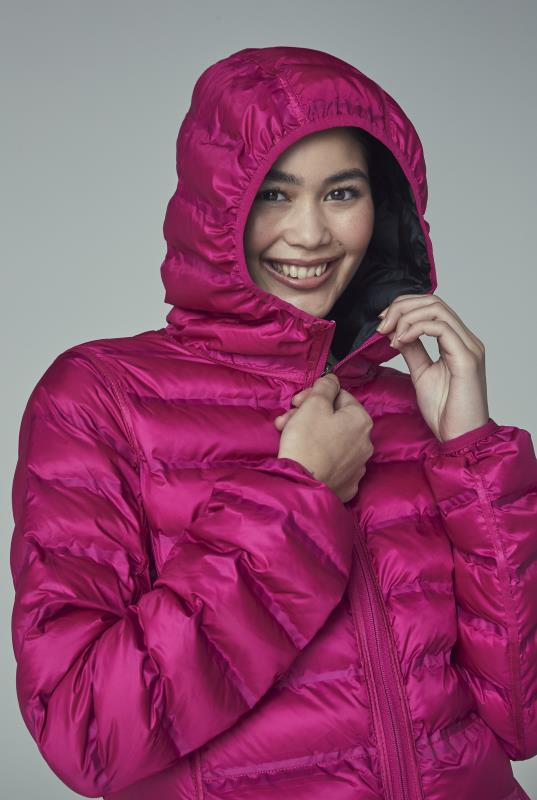 Black and Pink Point Zero Reversible Packable Jacket