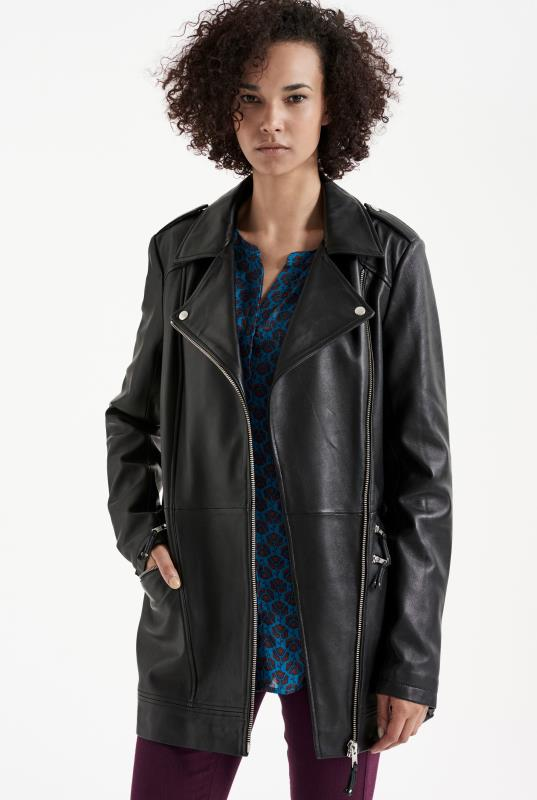 Tall Jackets Longline Leather Jacket