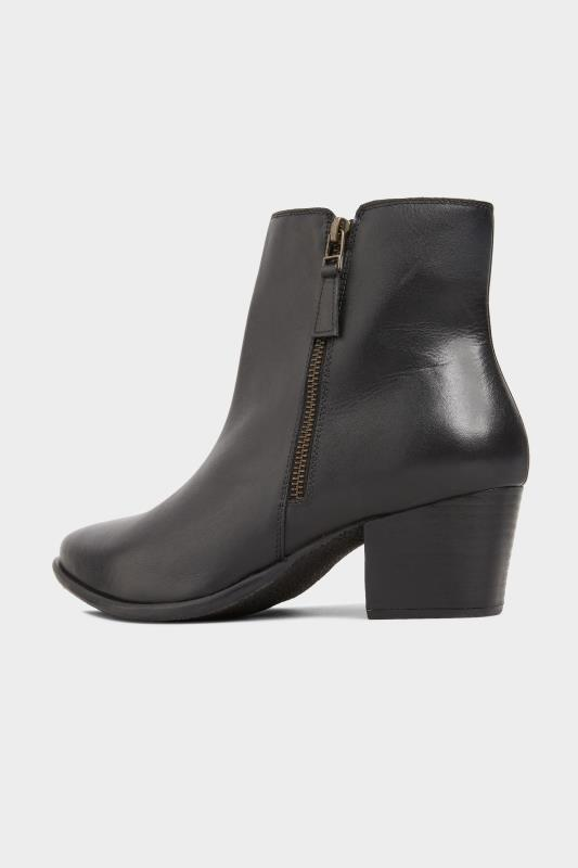 Black Leather Western Ankle Boots In Extra Wide Fit_C.jpg