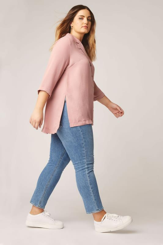 THE LIMITED EDIT Pink Open Collar Blouse_B.jpg