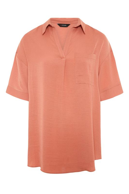 THE LIMITED EDIT Orange Pleated Front Top_F.jpg