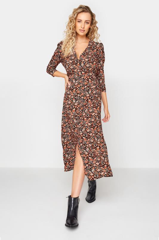 Tall  LTS Black Paisley Print Midaxi Tea Dress