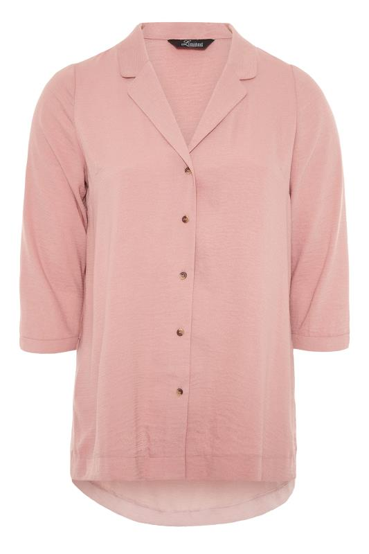 THE LIMITED EDIT Pink Open Collar Blouse_F.jpg