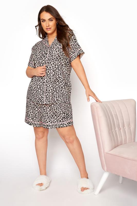 Multi Woven Leopard Print Short Pyjama Set_A.jpg