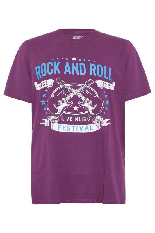 Men's  KAM Purple 'Rock & Roll Festival' T-Shirt