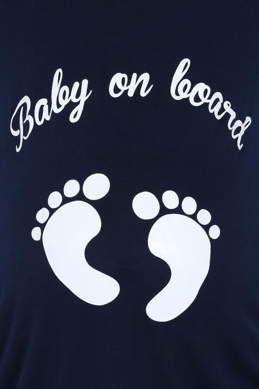 BUMP IT UP MATERNITY Navy Glittery 'Baby On Board' Top_11b94d9e-af7a-47c5-812b-93c77af12da7.jpg