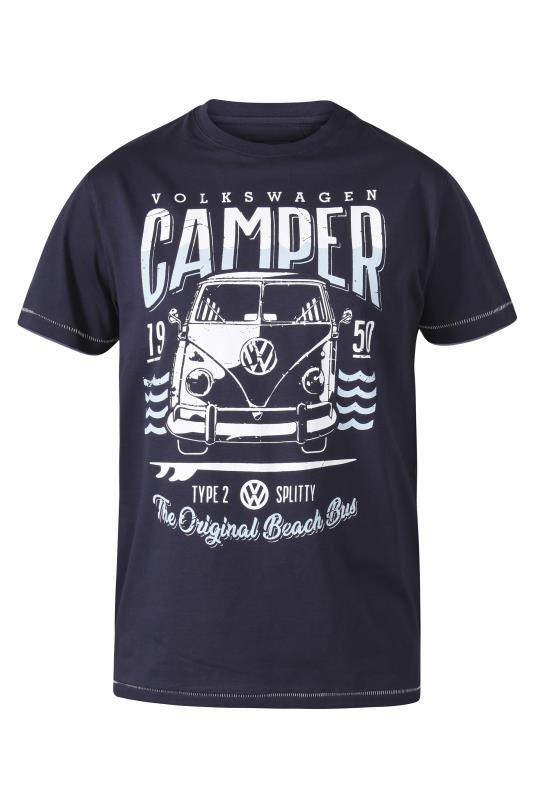 Plus Size  D555 Navy Campervan Printed T-Shirt