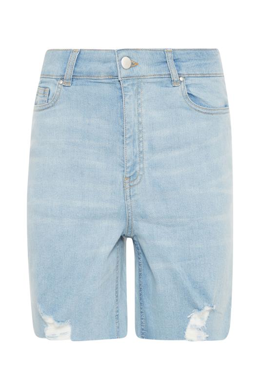 LTS Bleach Blue Cut Off Ripped Denim Shorts_F.jpg