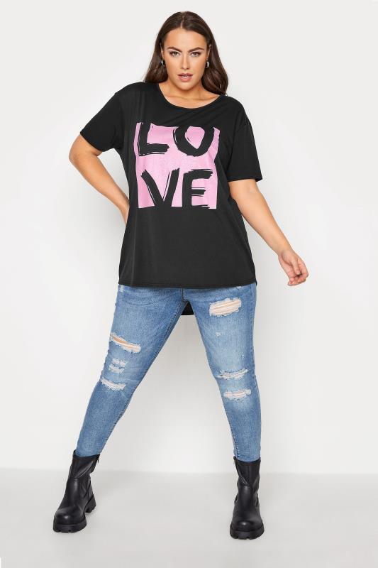 Black 'Love' Boyfriend T-Shirt_B.jpg