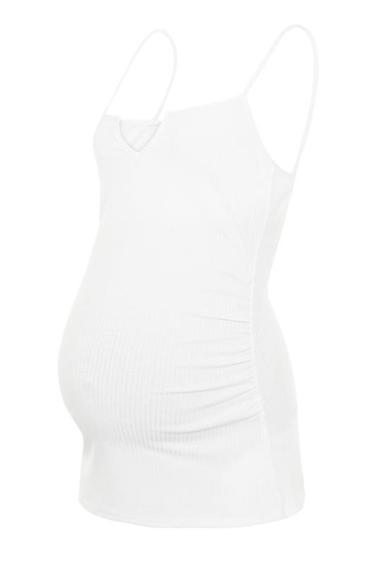 LTS Maternity White Ribbed Camisole_BK.jpg