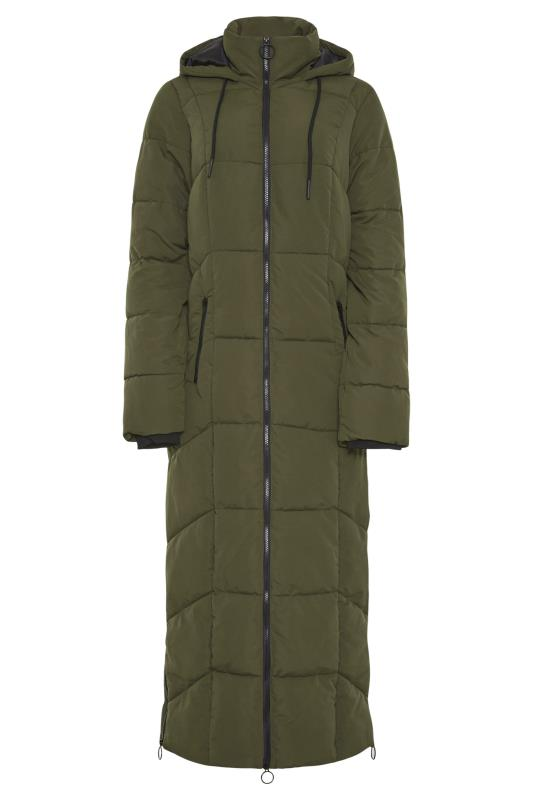 Khaki Longline Puffer Coat_F.jpg