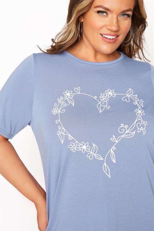 LIMITED COLLECTION Dusky Blue Heart Print T-Shirt_D.jpg