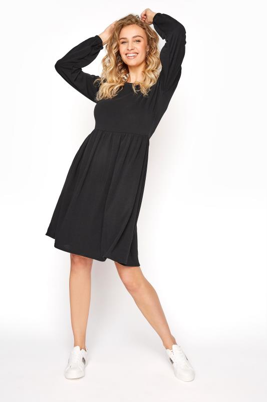 Tall  LTS Black Smock Dress