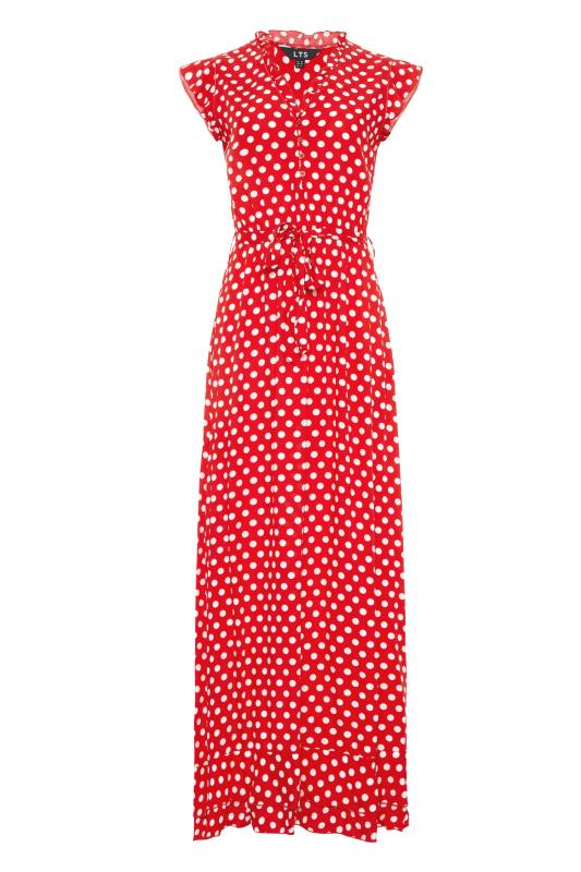 LTS Red Polka Dot Frill Maxi Dress_F.jpg
