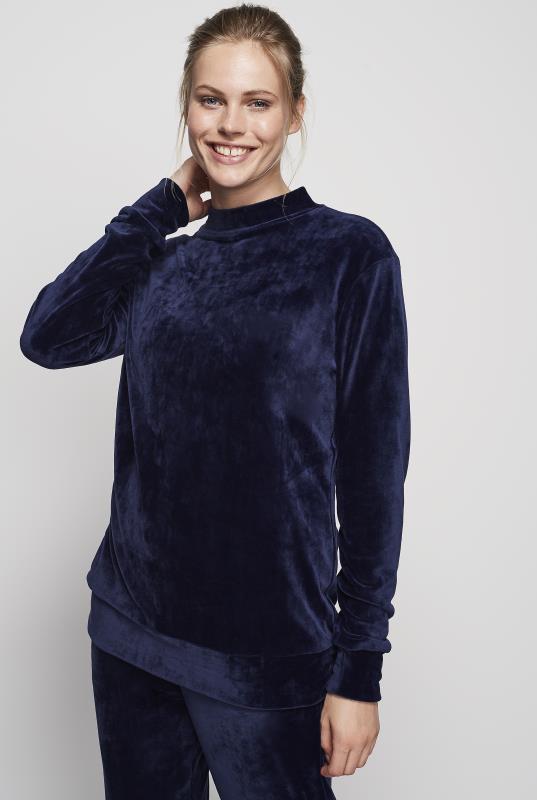 Tall Sweatshirts & Hoodies Navy Velour Sweatshirt