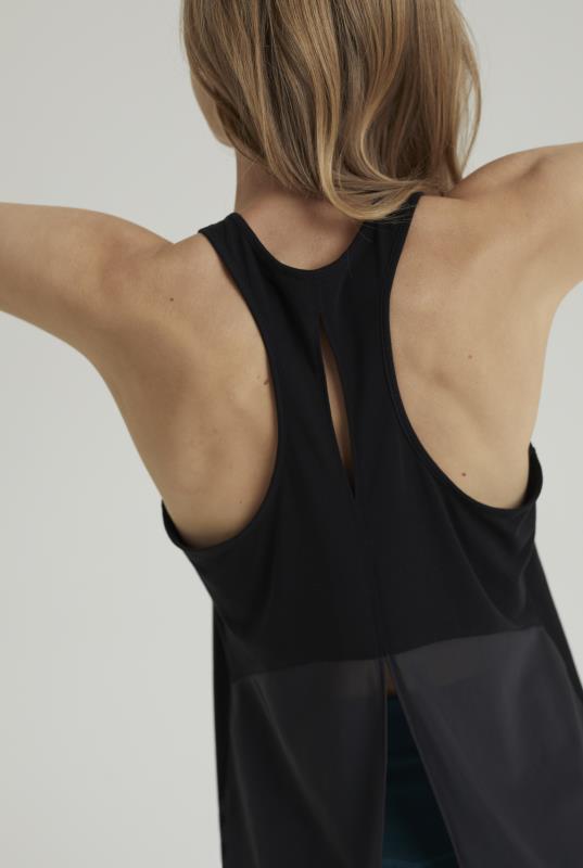 MPG X LTS Black Vest Top