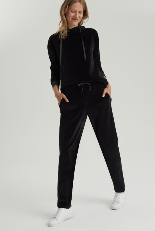 Black Velvet Straight Leg Jogger