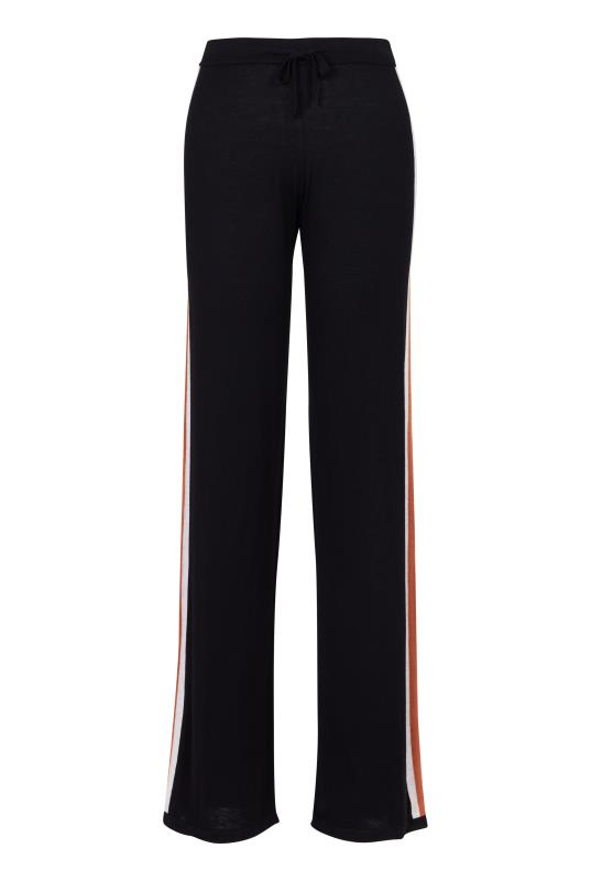 Stripe Wide Leg Knitted Jogger