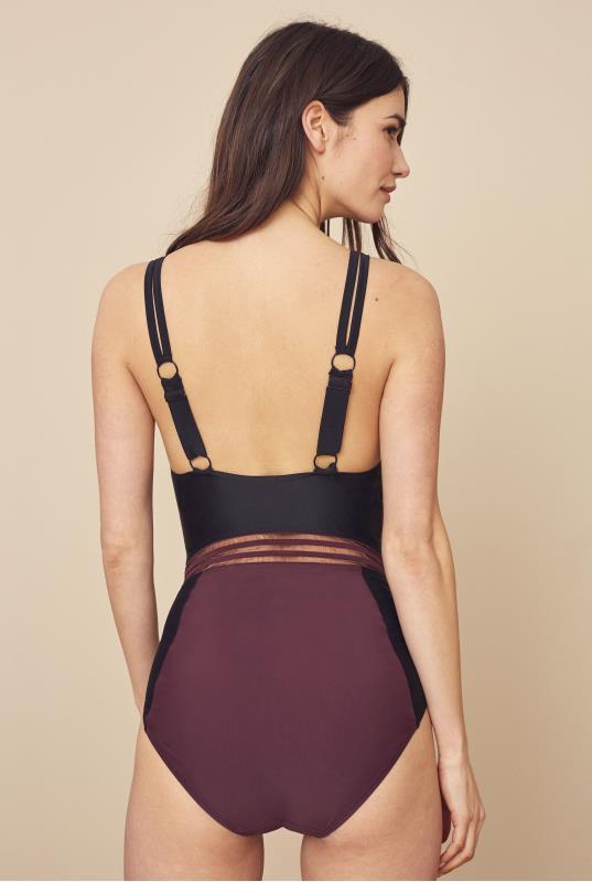 Mesh Colourblock Swimsuit