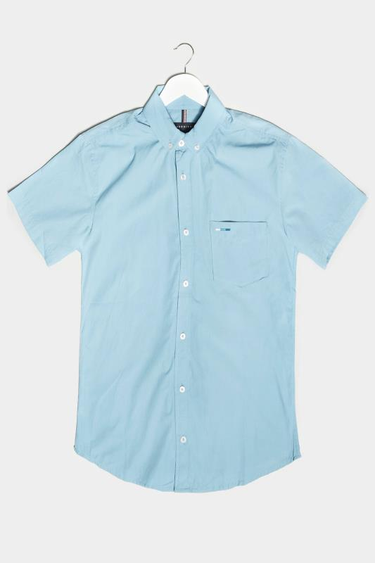 Men's Casual / Every Day BadRhino Light Blue Cotton Poplin Short Sleeve Shirt