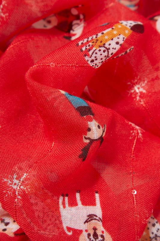 Red Sequin Christmas Novelty Dog Scarf_D.jpg