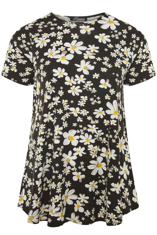 LIMITED COLLECTION Black Daisy Print Swing Top