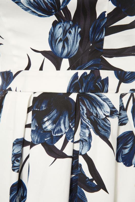White Floral Print Skater Dress_S.jpg
