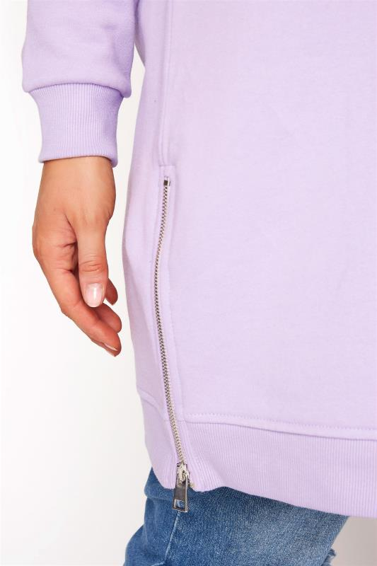 Super Soft Hand Feel Lilac Side Zip Sweatshirt_D.jpg