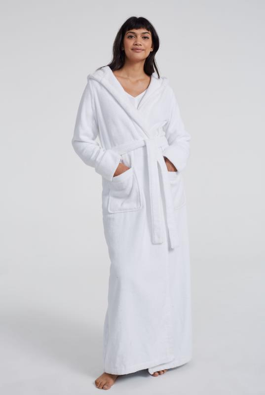 Tall Robes White Cotton Towelling Robe