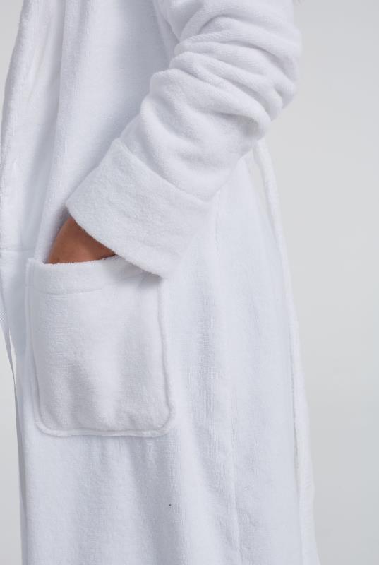 White Cotton Towelling Robe