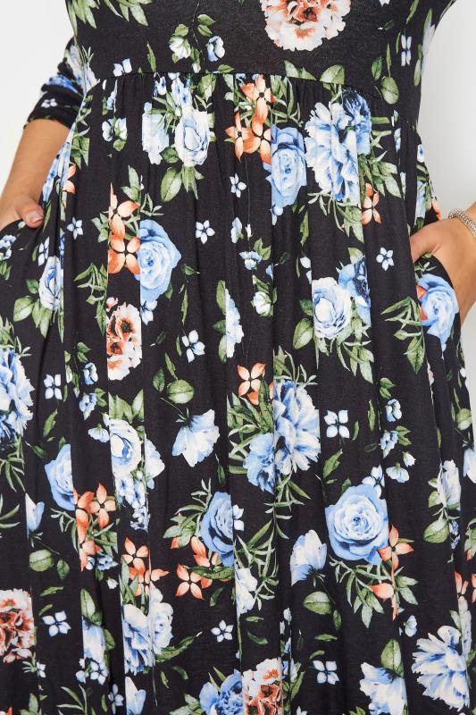 Black Pocket Floral Midaxi Dress_D.jpg