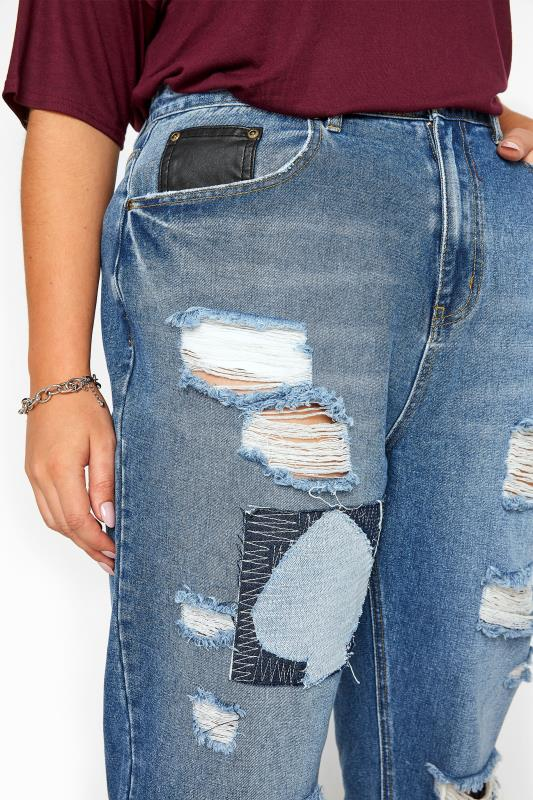 Mid Blue Extreme Ripped Patch Mom Jeans_C.jpg