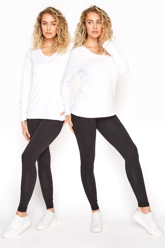 Tall  LTS 2 PACK Black Jersey Leggings