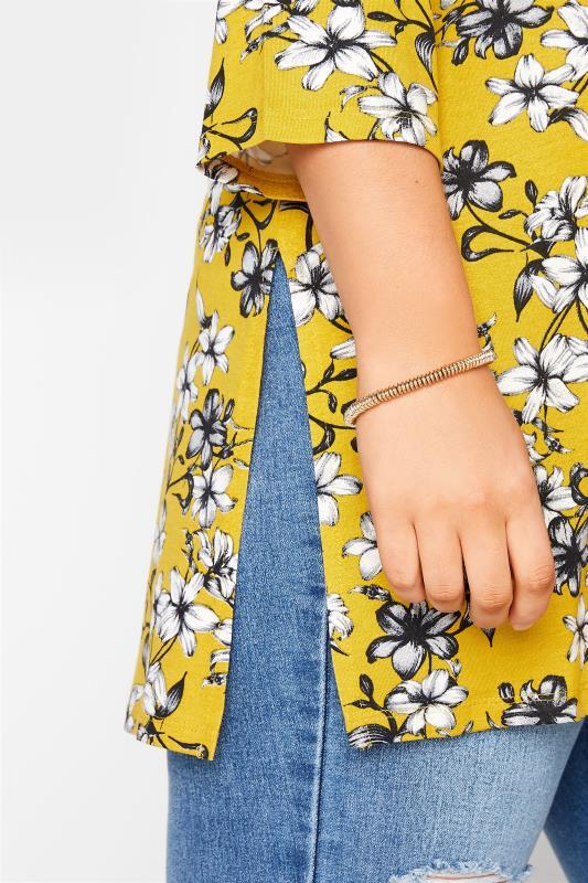 Yellow Floral Split Hem Tunic_D.jpg