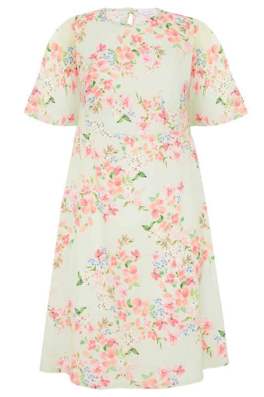 YOURS LONDON Sage Green Floral Dress_f.jpg