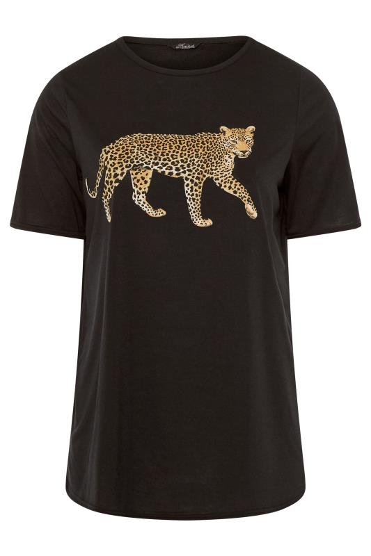 LIMITED COLLECTION Black Leopard T-Shirt
