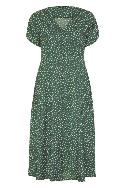 LIMITED COLLECTION Sage Ditsy Maxi Tea Dress_F.jpg