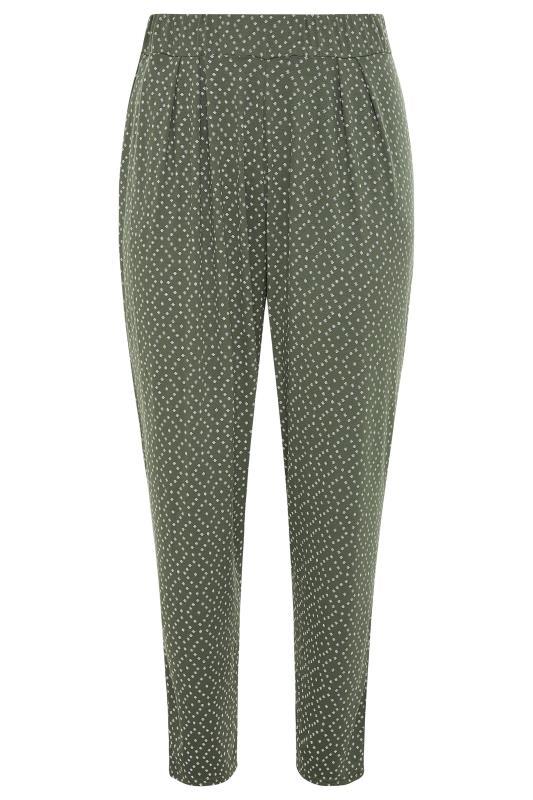 Khaki Diamond Print Harem Trousers_F.jpg