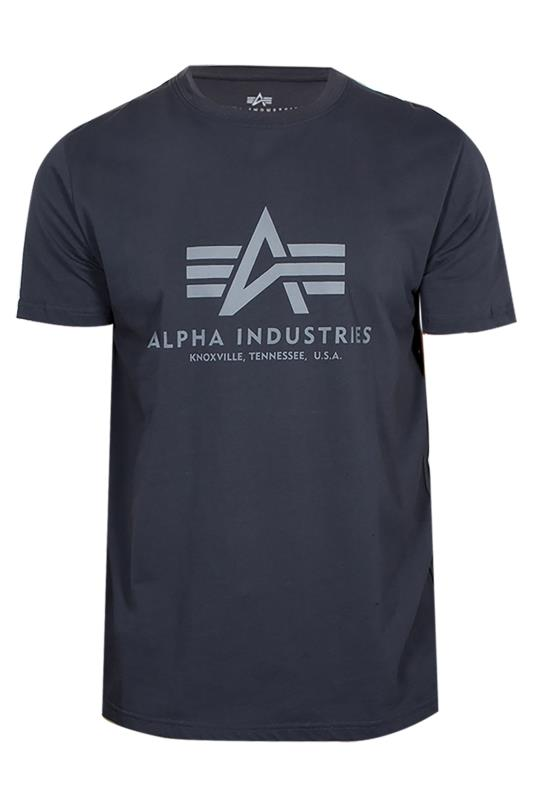 Plus Size  ALPHA INDUSTRIES Blue A1 T-Shirt