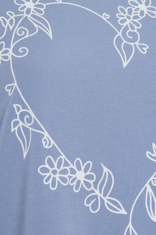 LIMITED COLLECTION Dusky Blue Heart Print T-Shirt_s.jpg