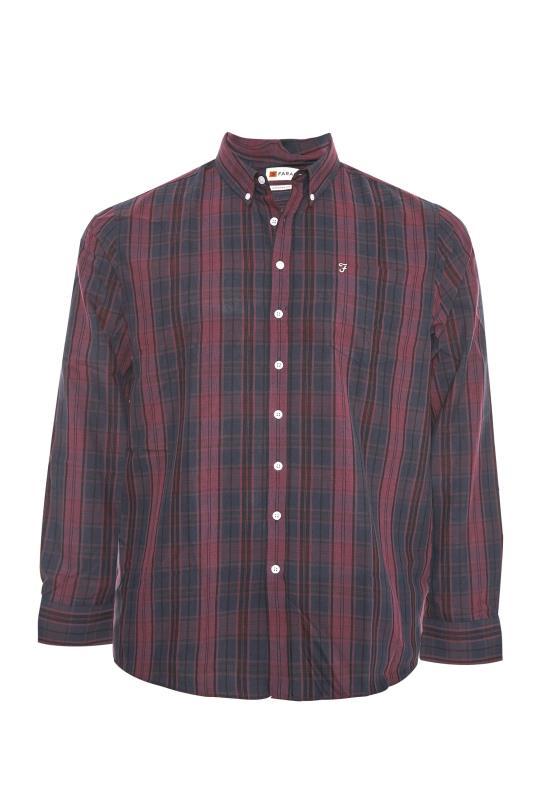 FARAH Burgundy Oxford Check Shirt_F.jpg