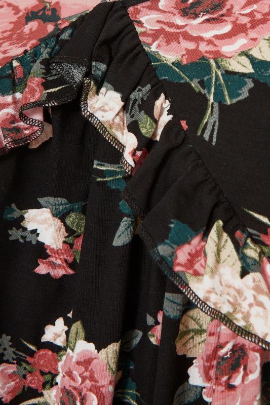 Black Floral Frill Peplum Top_S.jpg