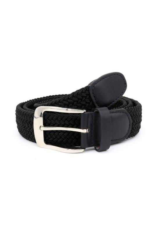 Men's  D555 Black Plaited Belt