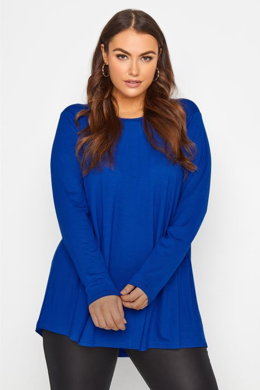 Plus Size  LIMITED COLLECTION Cobalt Blue Swing Top