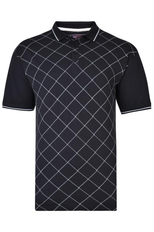 KAM Navy Diamond Pique Polo Shirt