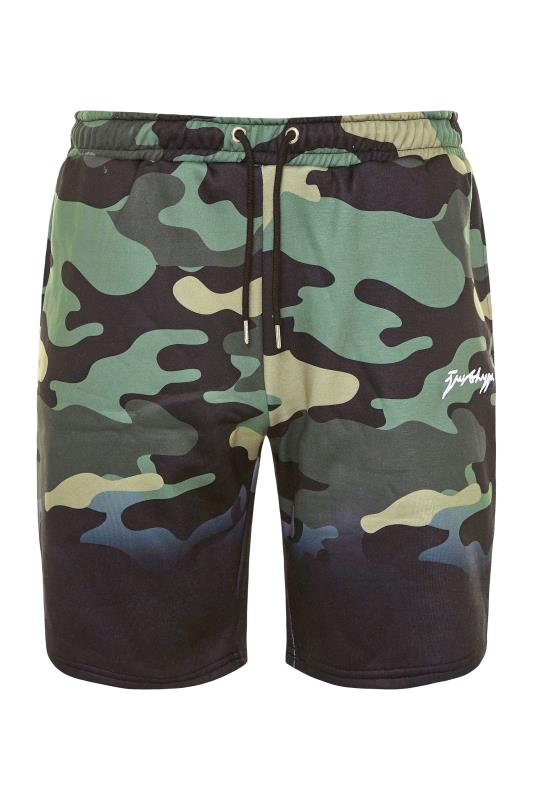 Plus Size  HYPE Black Camo Fade Shorts