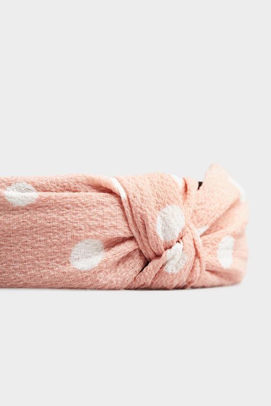 Pink Polka Dot Twist Headband_D.jpg
