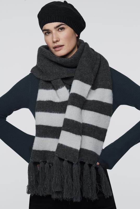 Stripe Detail Scarf