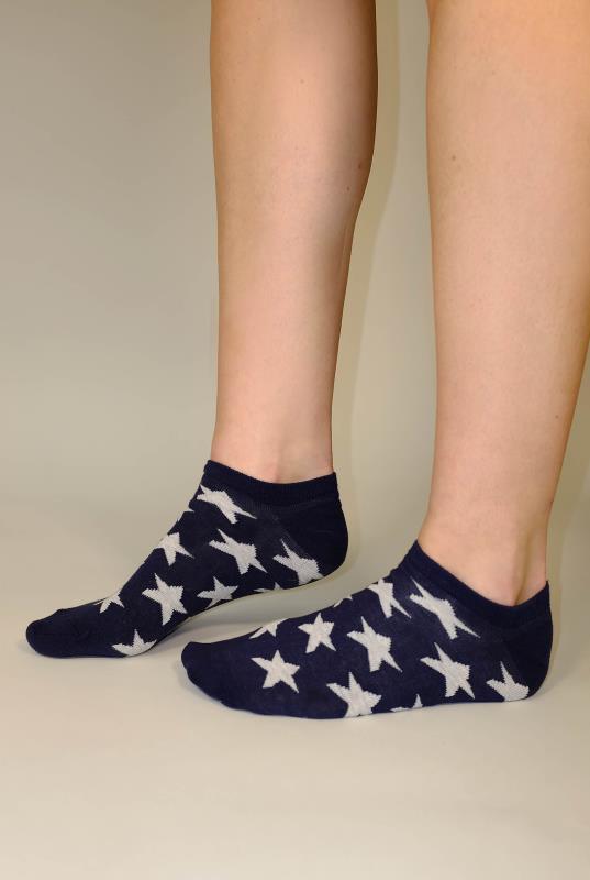 3 Pair Cotton Trainer Liner Socks
